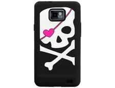 Silicone Image Phone Case Cover Big Skull Black For Samsung Galaxy S 2 AT&T