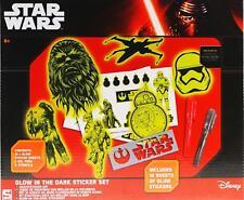 Star Wars Glow In The Dark Sticker Set - 10 Sheets Of Stickers, Stencil, Gel Pen