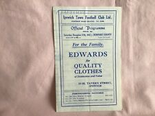 More details for ipswich town fc v newport county rare league iii programme dec27th 1947 wellused