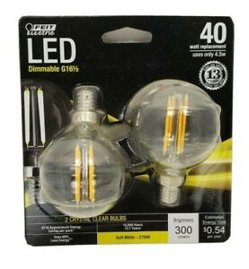 Feit Electric  Led 4.5w G16.5e12 Clr2pk, BPG1660827 LED 2  dimmable