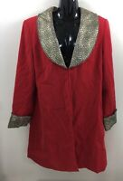 G.O.S.P.E.L. Women's Blazer Size 14/16 Red Gold Jacket Long