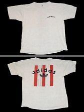 New listing adidas Vtg 80s 90s 3 Stripes Gray Single Stitch 2 Sided T Shirt Mens L Usa