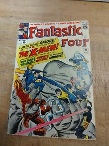 Fantastic Four #28 Early X-Men Crossover Htf 1964