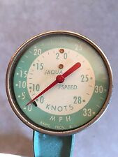 Vintage Old Boat Aqua Speed 33 MPH Outboard Speedometer~Transom Mount~NOS In Box
