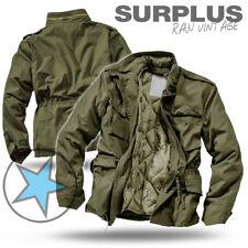 SURPLUS Raw Vintage M65 TROOPER Feldjacke U.S Army Herren Winter Jacke oliv XXL