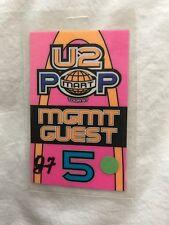 U2 - Pop Mart Tour 1997 laminate pass - MGMT GUEST #5