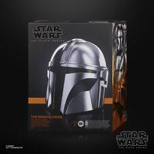 Star Wars: The Mandalorian Black Series Premium Electronic Helmet IN HAND VHTF