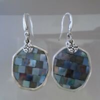 Mother of Pearl Silver Tone Earrings