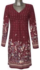 BOYSEN'S Jerseykleid Prima Gr. 50 Shirtkleid Baumwolle langarm weinrot NEU