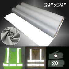 """39"""" Reflective Fabric Cloth Material Silver Highlight Chemical Fiber Sew 1mx1m"""