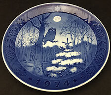 1974 Royal Copenhagen Christmas Plate - Winter Twilight