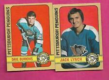 1972-73 OPC PENGUINS BURROWS RC + LYNCH RC   CARD   (INV# J0473)