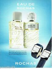 PUBLICITE ADVERTISING 115  2004  Eau de Rochas  pour homme & montre