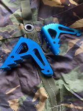 Heavy duty tent pegs Titan Ground Anchor Pack Of 4 Blue anodised aluminium