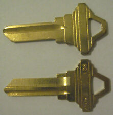 2 BRASS BLANK HOUSE KEYS FOR 5 PIN SCHLAGE LOCK SC1 CAN BE PUNCHED TO YOUR CODE