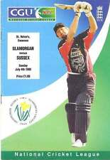 Glamorgan v Sussex 1999 CGU National Cricket League Programme, Swansea