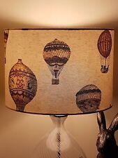 HANDMADE FABRIC LAMPSHADE 30cm MONTGOLFIER HOT AIR BALLOON STYLISH RETRO VINTAGE