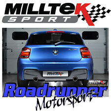 Milltek BMW 120d F21 F20 Cat Back Exhaust M135i Style System Black Tips SSXBM971