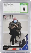 Bernie Sanders 2020 USA Election Topps Now Card #21 MINT 9 Mittens NEW CSG Slab✨