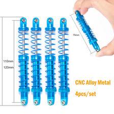4Pcs 110mm Adjustable CNC Piggyback Shock absorber For 1/10 RC AXIAL SCX10 D90
