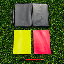 Referee Cards & Wallet Set | Football/Rugby Yellow & Red Cards, Pencil & Notepad