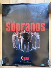 The Sopranos Poster Tower Records Promotional 1999 1st Season 18 X 24 Inches Hbo