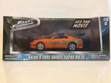 Fast and Furious Brians 1995 Toyota Supra MKIV Greenlight 86202 Sealed