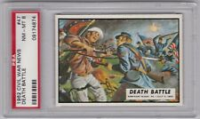 1962 Topps Civil War News Trading Cards, #47 Death Battle, PSA 8 NM MT
