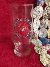 Vintage German Gilde Brau Hanover Drinking Glass with Heavy Bottom