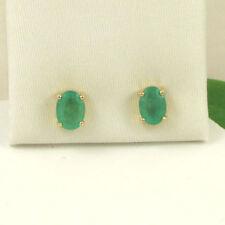 Butterfly Emerald Stud Oval Fine Gemstone Earrings