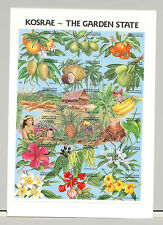 Micronesia #103 Fruit, Food, Flowers 1v M/S of 18 Imperf Proof Mounted on Card