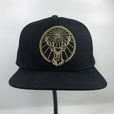 Jagermeister Liquor Baseball Cap Hat Snapback Adjustable Black Stag Logo