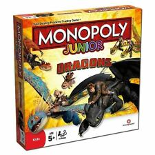 Monopolio Junior-Cómo entrenar a tu dragón Juego De Mesa