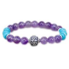 Aquarius zodiac jewelry Amethyst bracelet Turquoise jewelry Birthday gift women