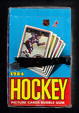 1984 TOPPS HOCKEY PICTURE CARDS EMPTY 36 COUNT WAX BOX