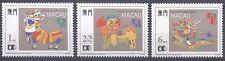 Macau Macao 1992 Dragon and Lion Dance stamps