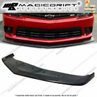 For 14-15 Chevy Camaro V8 SS Z28 AS Style Front Bumper Lip Chin Flat Splitter