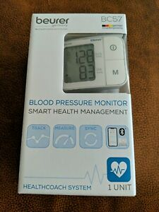 New in Box beurer Germany Bluetooth Blood Pressure Monitor BC57 HealthCoach