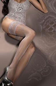 Ballerina 294 Hold Ups Thigh-Highs Gray European Hosiery Luxury
