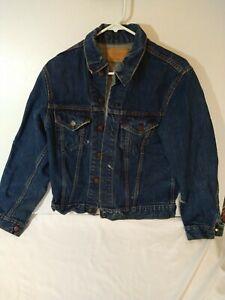 Vintage Big E Levi Strauss & Co Denim Jean Trucker Jacket 70505-0217 Size 40