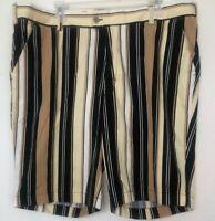 Loudmouth Golf 40 Shorts - Mens Striped Walking Bermuda