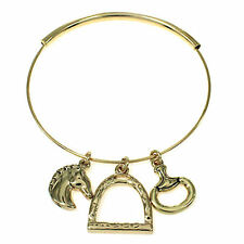 Ladies Horse Theme Bangle Bracelet Gold Horse & Western Jewellery Jewelry Gifts