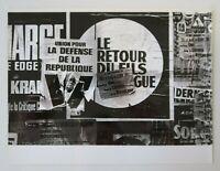 Photo ancienne 18x24 affiche ELECTIONS DE GAULLE  Paris mai 68 poster 1968 56