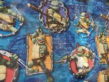 Vintage Teenage Mutant Ninja Turtles 2007 Flat Twin Bed Sheet Bright Colors