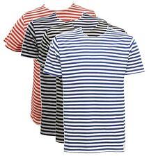Russian Navy Telnyashka Marine Sailor Cotton T Shirt Short Sleeve, Striped