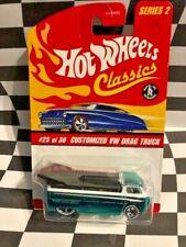Hot Wheels Classics Series 2  #25 Customized VW Drag Truck Aqua 5sp_ww