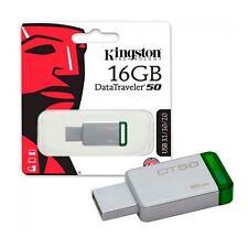 Pendrive 16GB Kingston 16 GB USB 3.0 3.1 - DT50/16GB
