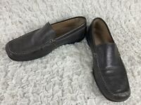 Ecco Dark Brown Leather Driving Shoes Men's Size 45 US 11/11.5