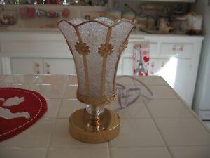 Beautiful Gold And Glass Night Light Vanity Lamp