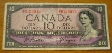 1954 BANK OF CANADA $10 TEN DOLLARS M/D BEATTIE/COYNE Banknote